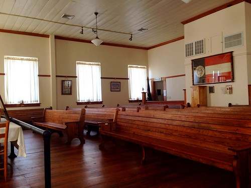 Another view of the courtroom inside the Historical White County Courthouse by danielrpartain