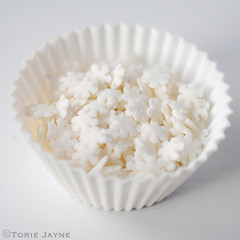 Sugar snowflake sprinkles