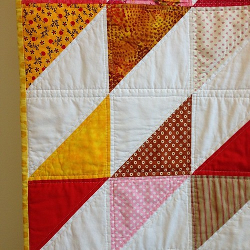 teen living charity quilt -- close up
