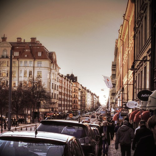 Hornsgatan in Södermalm, Stockholm at 2.30pm Sunday 17th November 2013 by sawelli