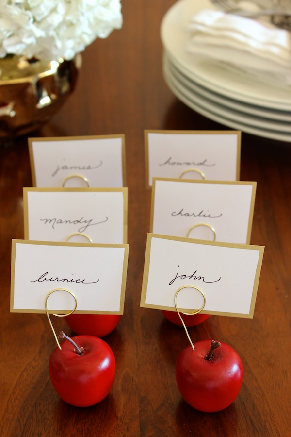 Fabric Paper Glue | DIY Thanksgiving Mini Apple Placecard Holders