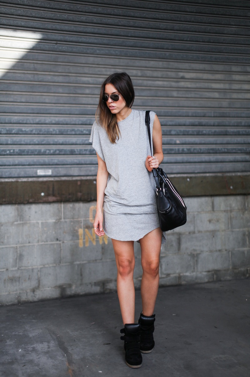 modern legacy fashion style blogger australia bassike grey muscle tank dress isabel marant sneakers black bekket (1 of 2)