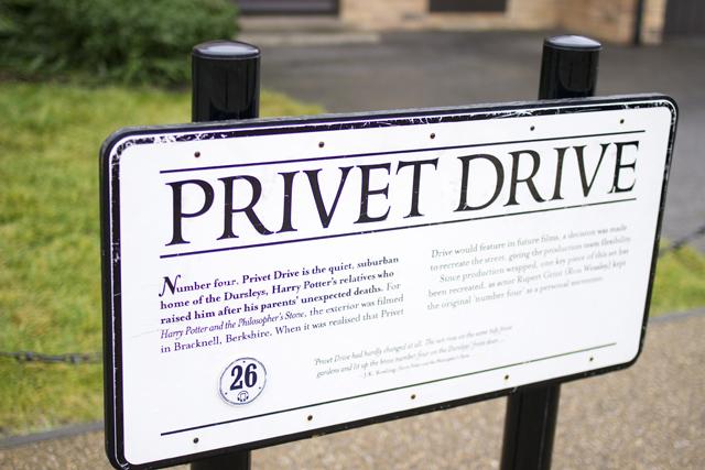 No. 4 Privet Drive behind the scenes