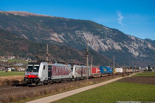 austria inn zug loco company 186 zebra treno innsbruck lok treni locomotiva lokomotion vomp raction zebrata 186282 e186 186285 railt
