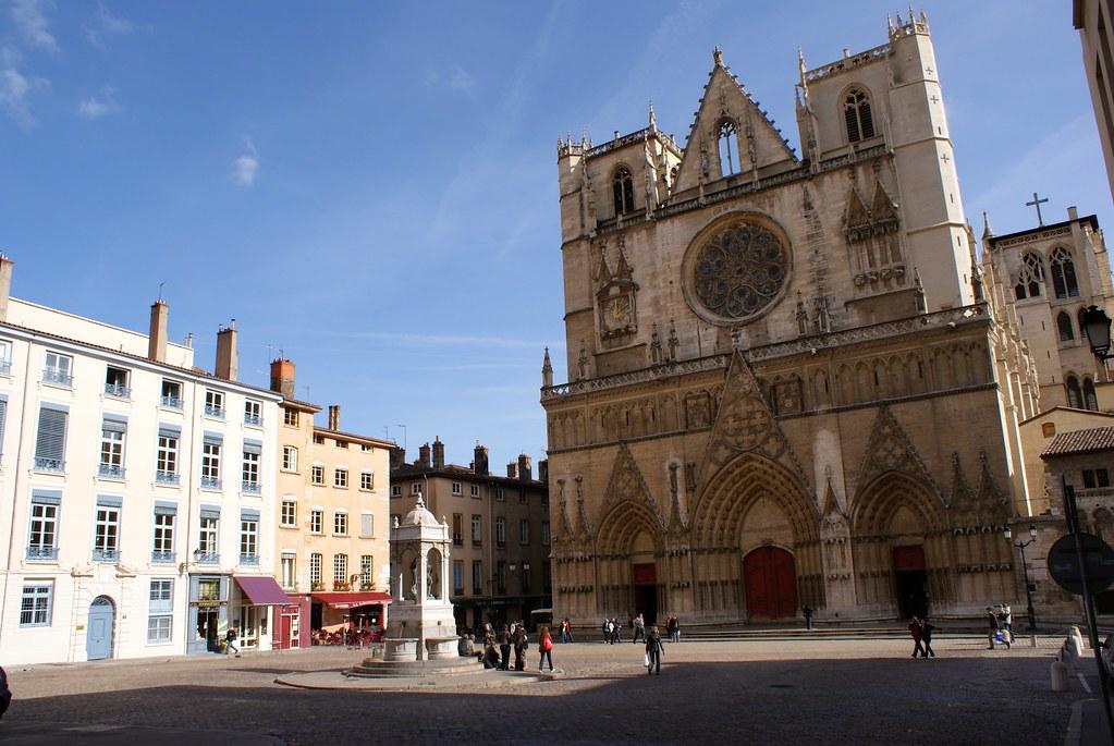 Cathédrale Saint-Jean dans le vieux Lyon.