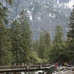 The bridge at Yosemite Falls