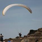 Paraglider taking off, Oahu