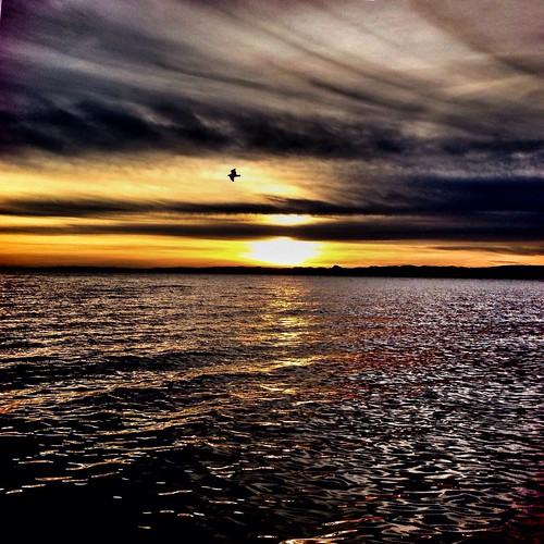 Sunset on the Garda Lake