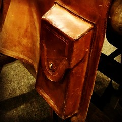 Part of the 'mochila' used by Pony Express riders to carry mail (20 lbs max.) #StJoMo #history