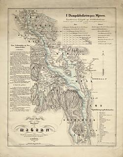 Reisekart over Mjøsa og omegn, 1843