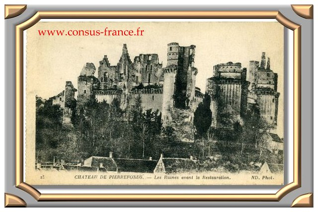 15 CHATEAU DE PIERREFONDS. - Les Ruines avant la Restauration. ND. Phot
