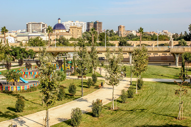 Jardines del r o turia de valencia vivir europa - Jardin del turia valencia ...