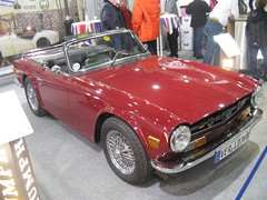 automobile, vehicle, performance car, antique car, classic car, land vehicle, triumph tr6, sports car,