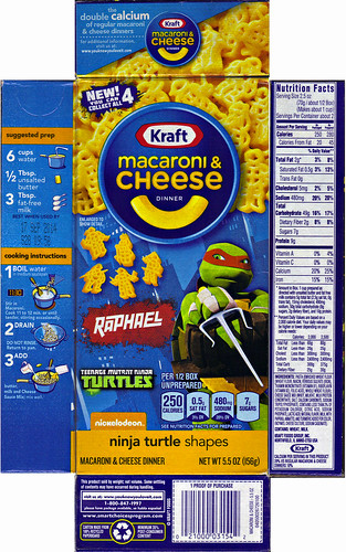 "Kraft Macaroni & Cheese :: ""TEENAGE MUTANT NINJA TURTLES"" Shapes ; ""RAPHAEL"" box ii  (( 2014 ))"