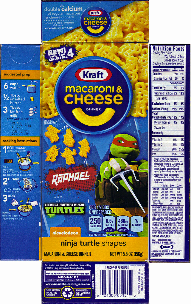 "Kraft Macaroni & Cheese :: ""TEENAGE MUTANT NINJA TURTLES"" Shapes ; ""RAPHAEL"" box ii  (( 2014 )) by tOkKa"