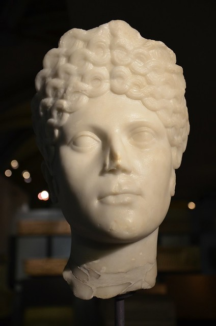 A Roman lady from the Roman Villa of Milreu, 1st-2nd century AD, National Archaeology Museum of Lisbon, Portugal