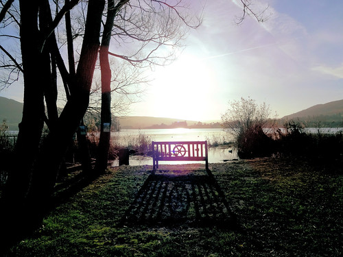 winter lake wales sunrise bench shadows peaceful lakeside breconbeacons brecon beacons tranquil powys llangorse llangors europeonflickr