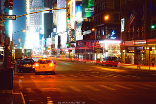 Late night in midtown, nyc..