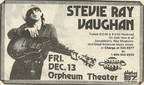 12/13/85 Stevie Ray Vaughan @ Orpheum Theater, Minneapolis, MN