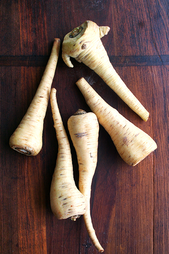 raw parsnips