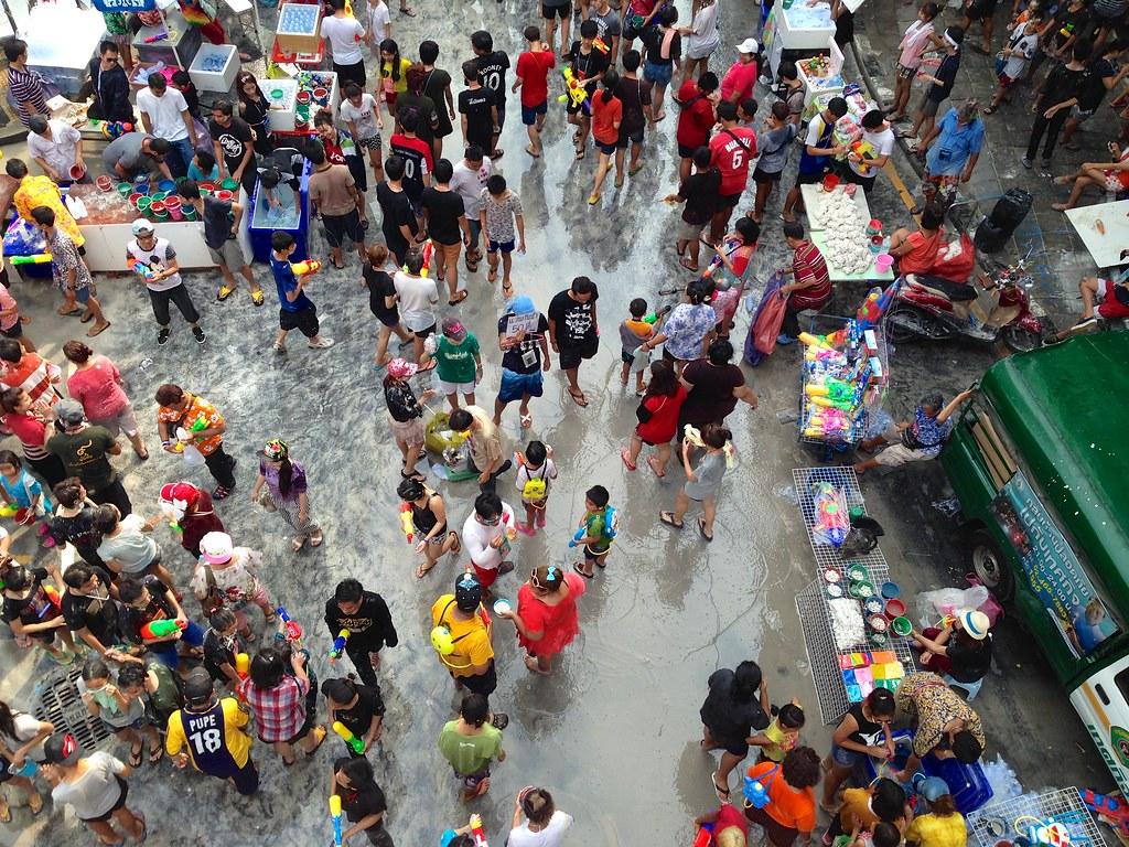Songkran. Silom Road - Bangkok, Thailand. 30