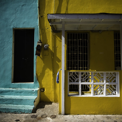 303 in Yellow and Neighbor, Old San Juan, Puerto Rico