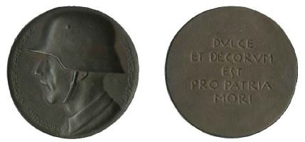 Somme medal by A. Galambos