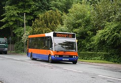 An Optare Solo M920 B33F in Poynton on the Macclesfield- Stockport 392 service.                                                   13 - 307                                            10/202 - new                                   02/2013 - transferred from Centrebus ...