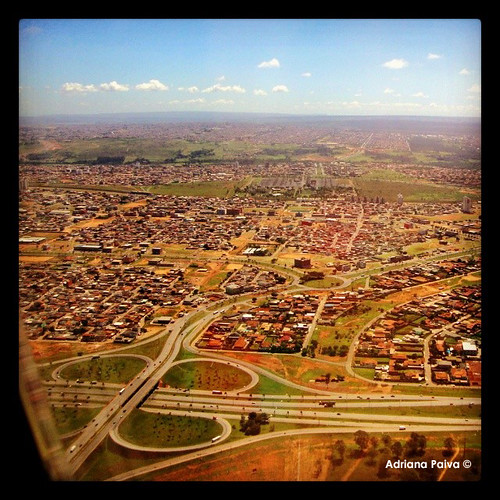 Bsb - vista aérea Brasília pela janela do avião