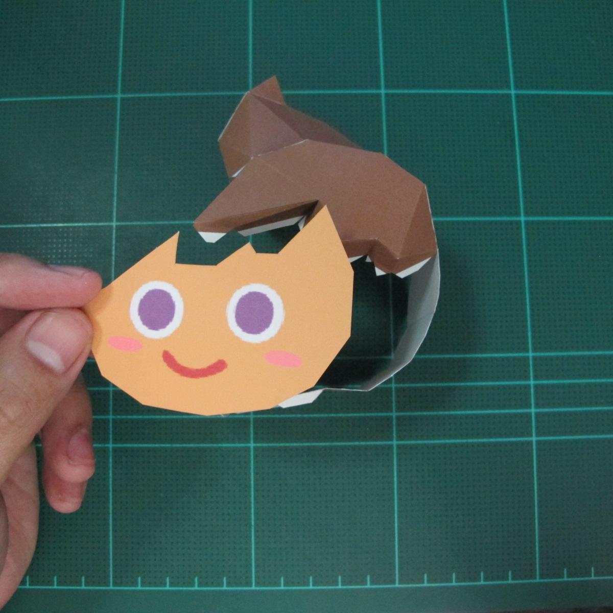 วิธีทำโมเดลกระดาษตุ้กตา คุกกี้สาวผู้ร่าเริง จากเกมส์คุกกี้รัน (LINE Cookie Run – Bright Cookie Papercraft Model) 009