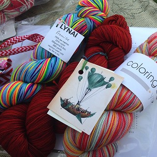I want to cast on all the socks!! #lynaiyarns #theflyingkettle #coloringbookyarns