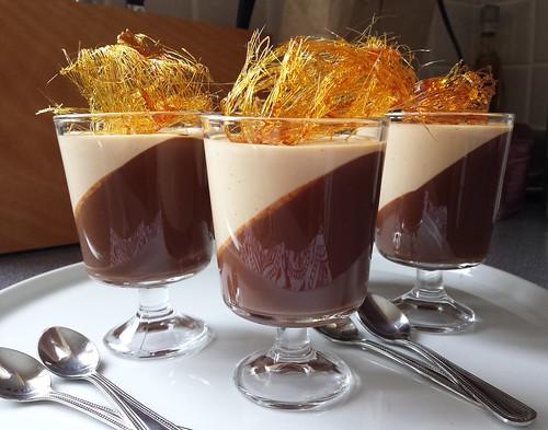Valentine's Day Dark Chocolate Gelée & Caramel Panna Cotta Verrine