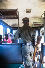 Madagascar. Vertical. En train de Manakara à Fianarantsoa.