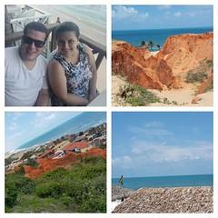 Resumo de hoje: um lugar paradisíaco chamado Morro Branco.  #carnaval2015 #carnaval #feriado #praia #verão #verão2015 #felicidade #fortaleza #ce #morrobranco #paraíso #beberibe #beautiful #igers