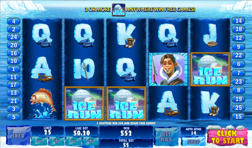 free Ice Run free spins feature