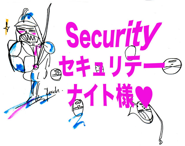 Securityナイト様歪み加工