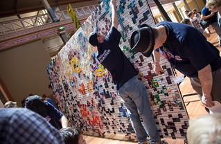 Giant Lego Mural