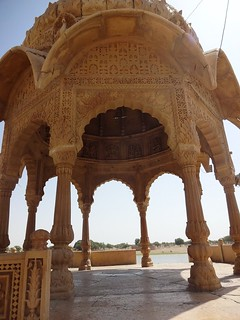 An intricately carved dome raised on eight pillars