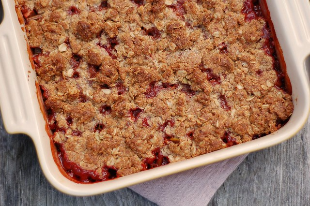 Strawberry Apple Japanese Knotweed Crisp by Eve Fox, the Garden of Eating, copyright 2016