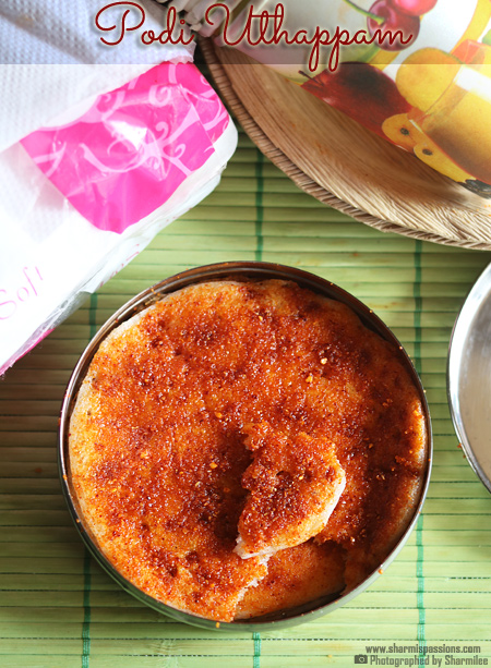 Podi Uthappam Recipe