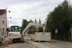 Effondrement de chaussée quai Joffre à Melun, France