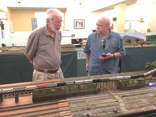 Dave and Larry talk trains during the 2016 Windsor Point Show