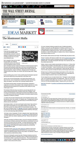 Business Leadership, Montessori Education