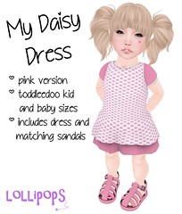 {lollipops} My Daisy Dress Pink