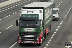 Volvo FH 6x2 Tractor - PX61 BJF - Jessica Ella - Eddie Stobart - M1 J10 Luton - Steven Gray - IMG_5018