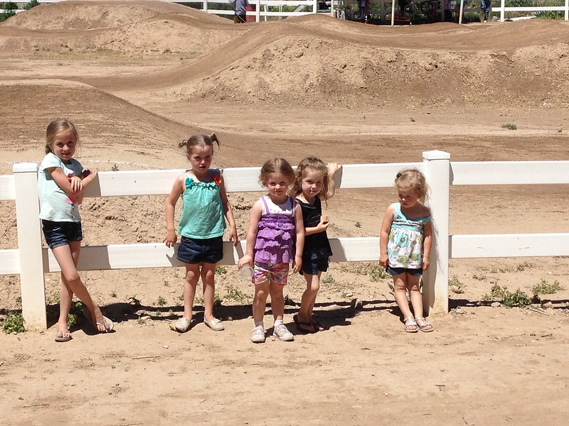 Girls at the BMX track