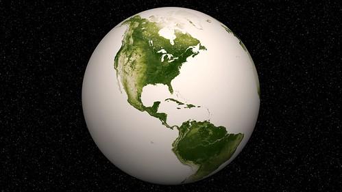 Herbal Earth - Western Hemispher by NASA Goddard Photo and Video