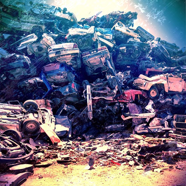 Carpocolypse #cars #junk #scrap #metal