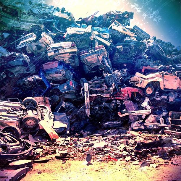 Carpocolypse #cars #junk #scrap #metal