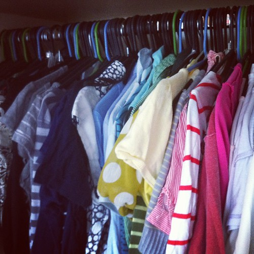 After photo of my #rainbow #organized closet!